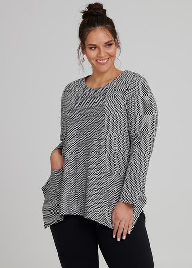 Textured Hanky Hem Top