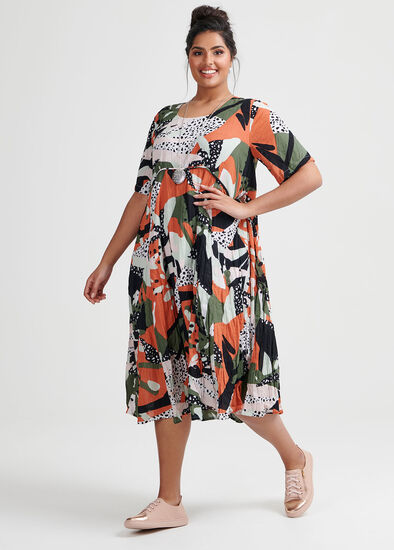 Cotton Jungle Mix Dress