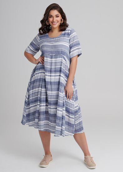 Wedgwood Stripe Dress
