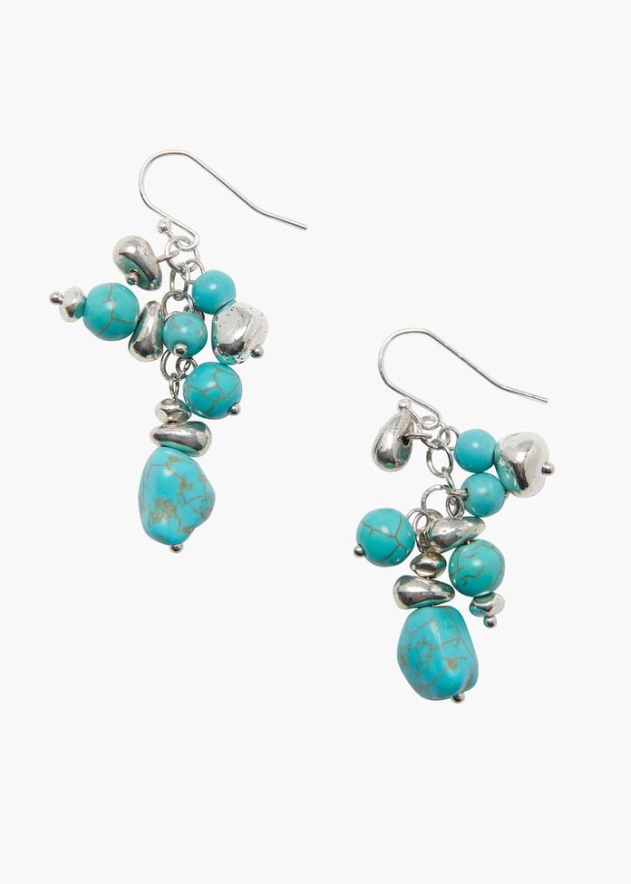 Azure Cluster Earrings, , hi-res