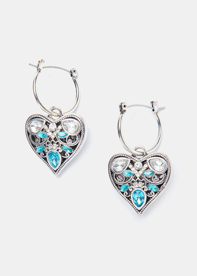 The Blues Heart Earrings