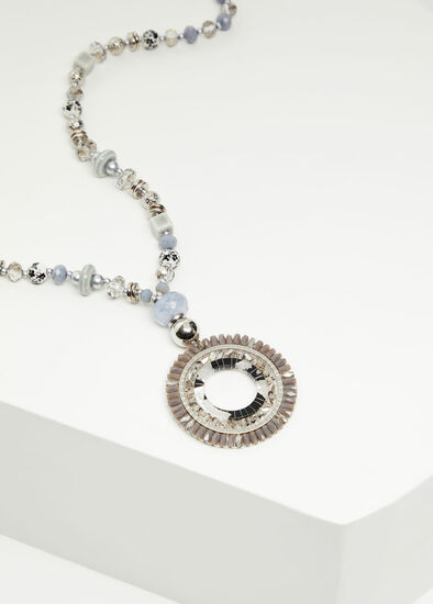 Crystal Ring & Bead Necklace