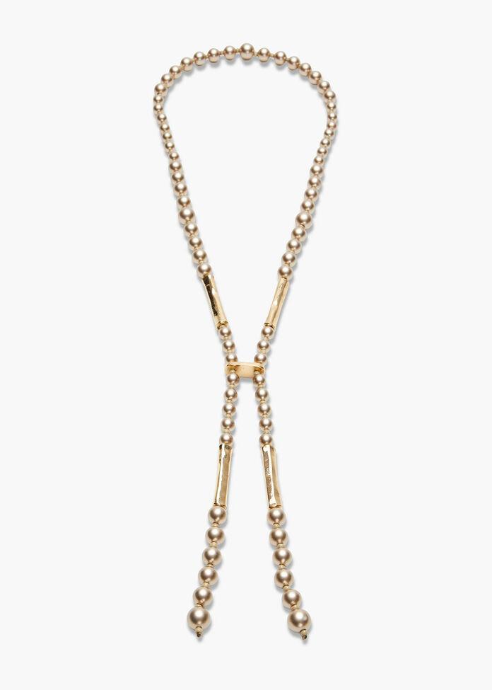 Bronze Pearl Necklace, , hi-res