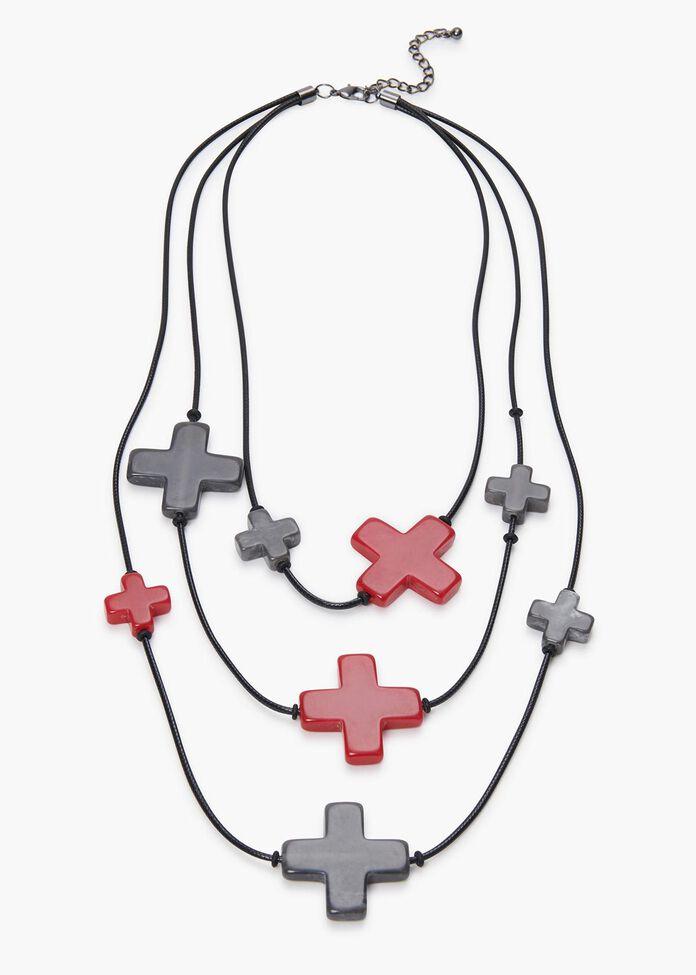Criss Cross Necklace, , hi-res