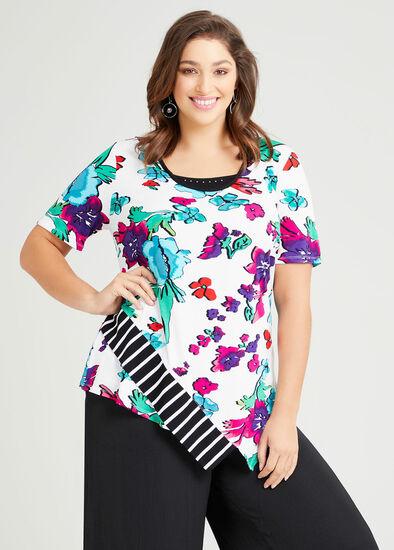 Zena Natural Floral Top