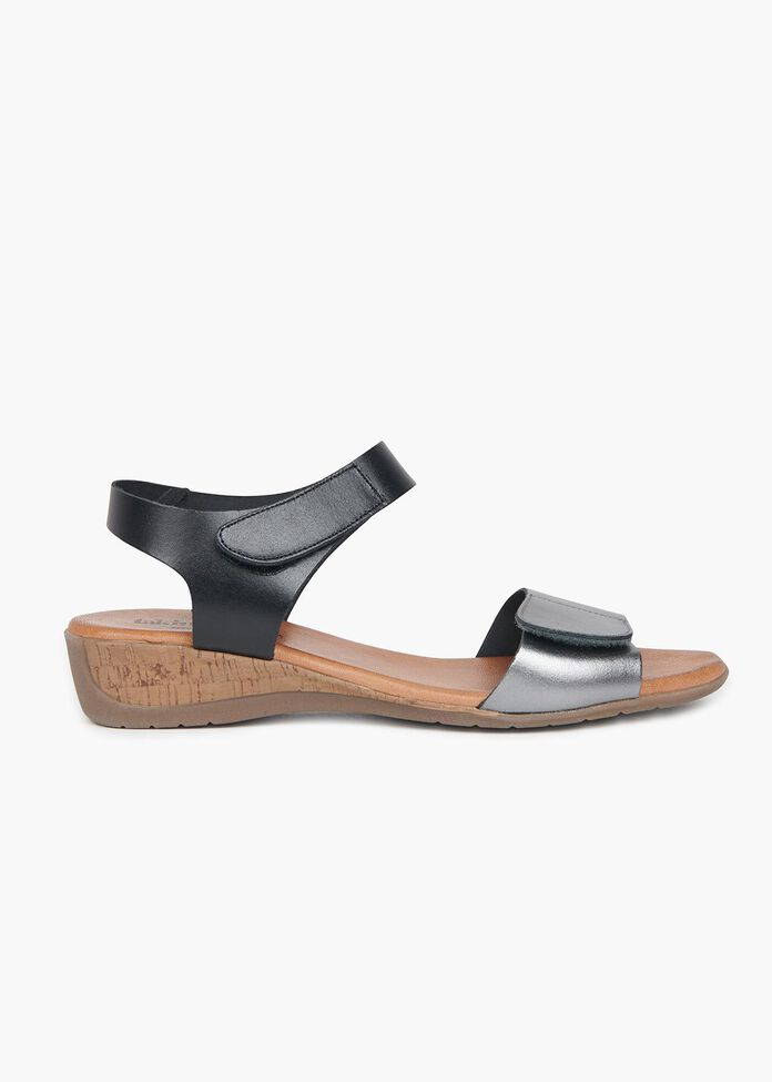 Barcelona Leather Sandal, , hi-res