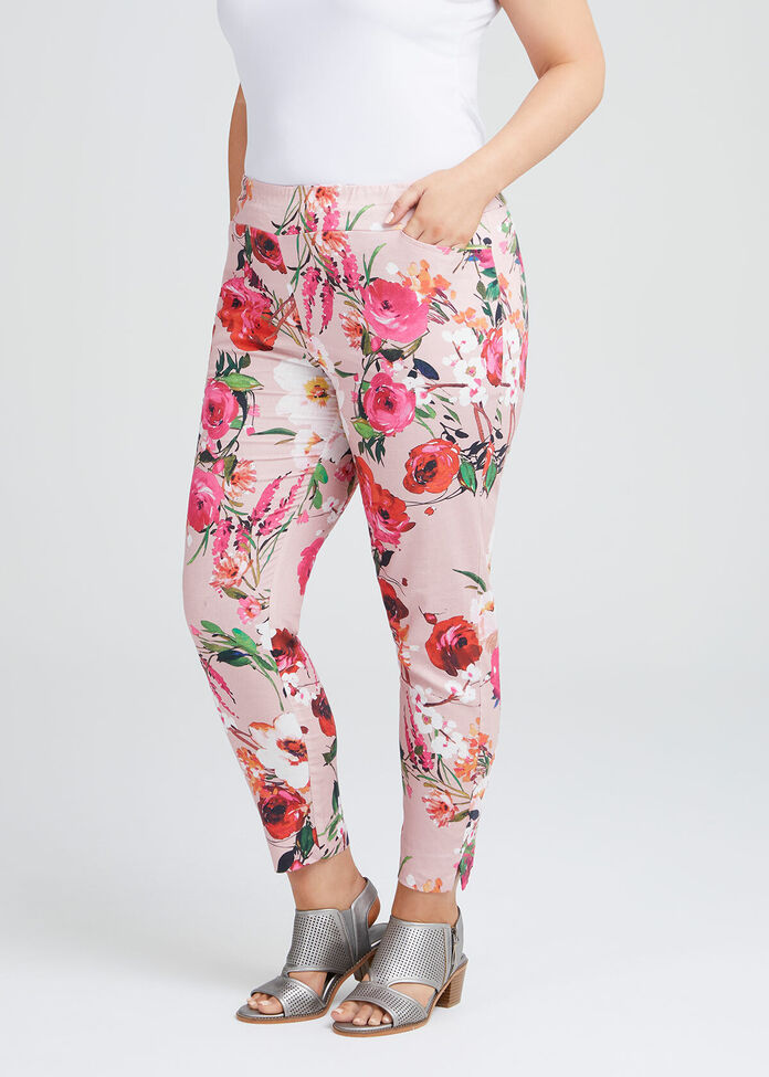 Pretty In Pink Linen Pant, , hi-res