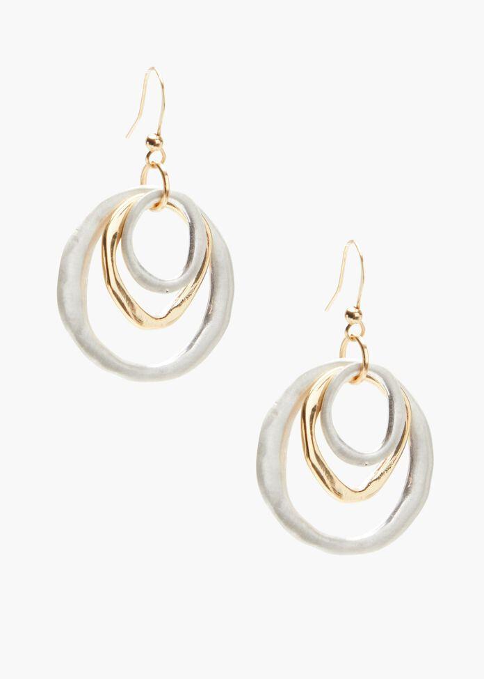 Multi Ring Earrings, , hi-res