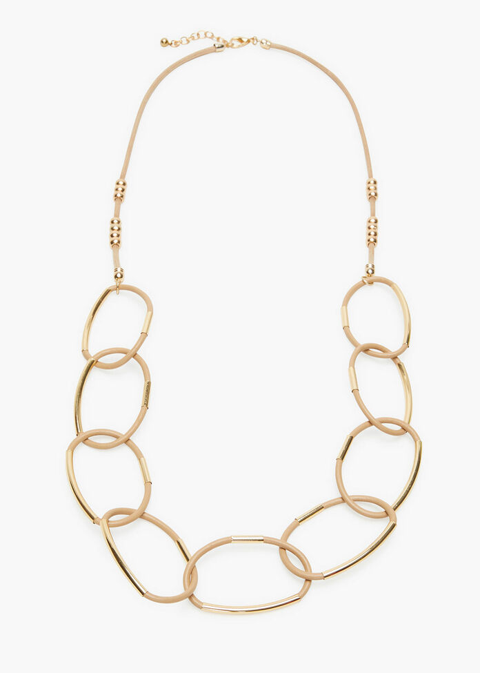 Neutral Links Necklace, , hi-res