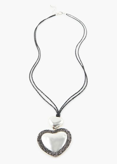 Crusted Heart Necklace