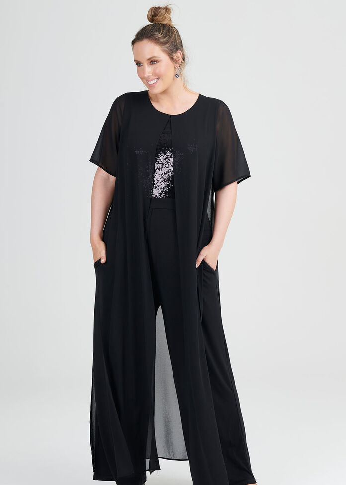 Sequin Bodice Jumpsuit, , hi-res