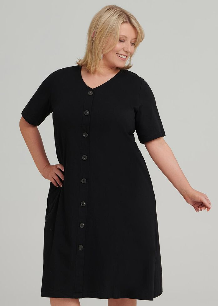 Button Down Dress, , hi-res