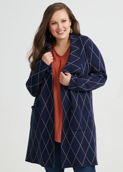 Twilight Check Cardigan