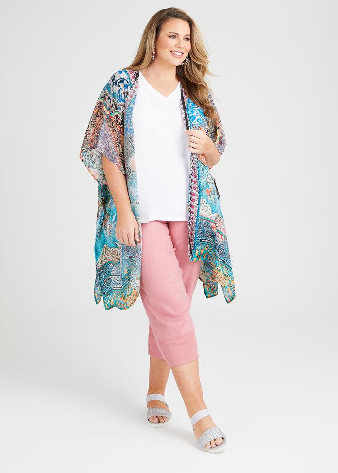 Natural Mosaic Kimono, , hi-res