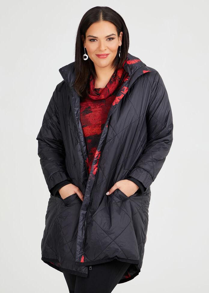 Rouge Noir Puffer Coat, , hi-res