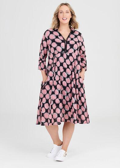 Cotton Textures Spot Dress