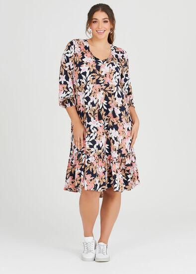 Natural Floral Dress