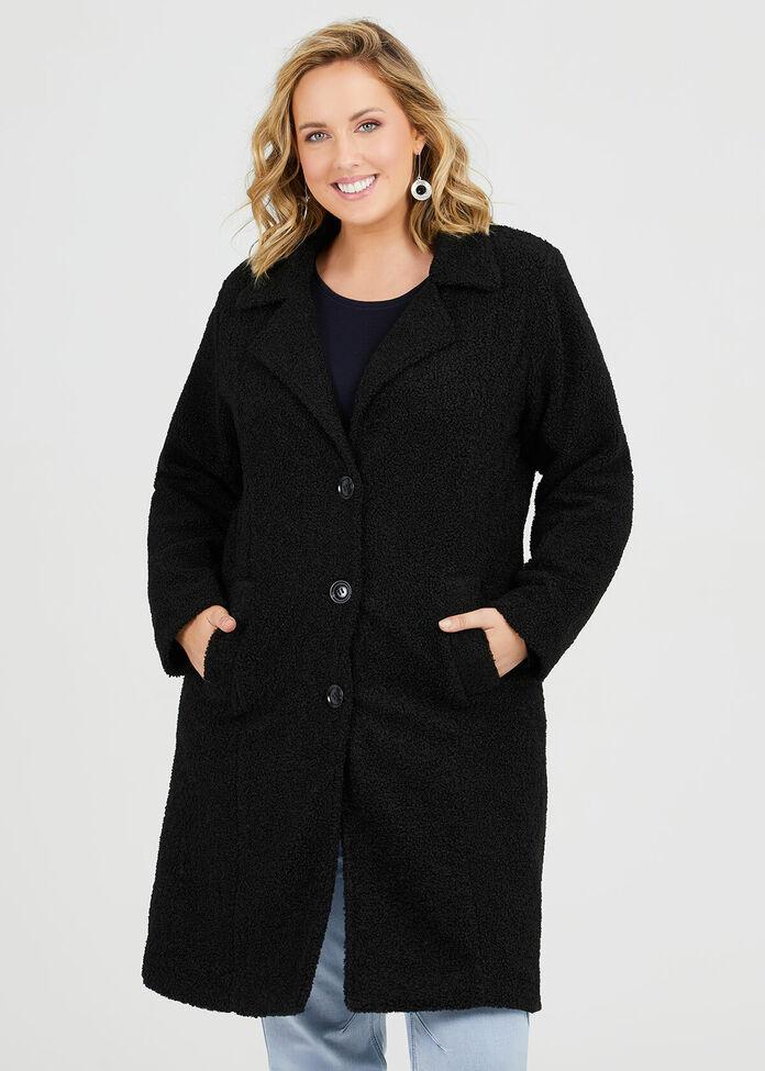 Teddy Boucle Coat, , hi-res