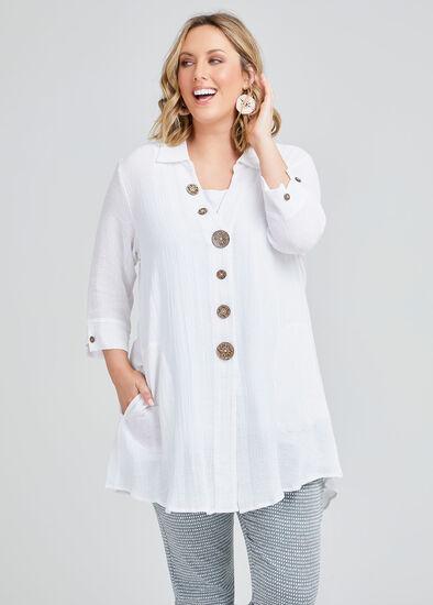 Maxine Linen Swing Shirt