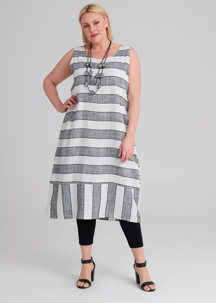 Linen Stay In Line Dress, , hi-res