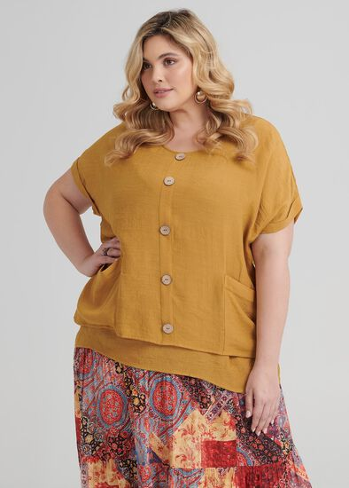 Buttons Relaxed Top