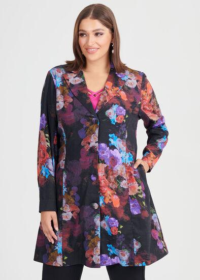Rose Garden Linen Jacket