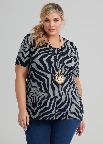 Zebra Stripes Top