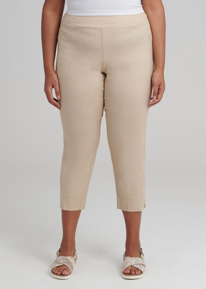 Linen Crop Pant, , hi-res