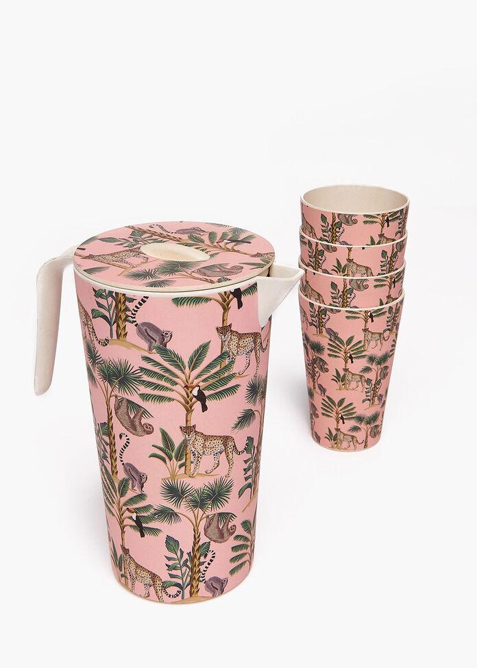 Bamboo Jug & 4 Tumblers, , hi-res