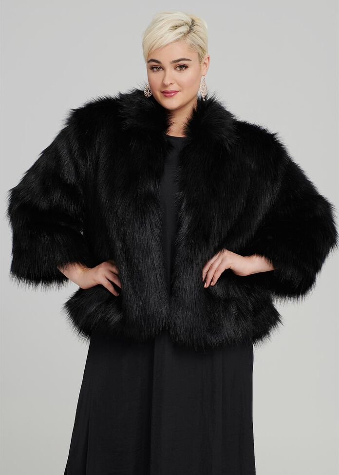 Iconic Faux Fur Jacket, , hi-res