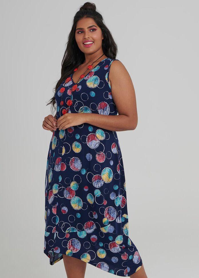 Ombre Spot Dress, , hi-res