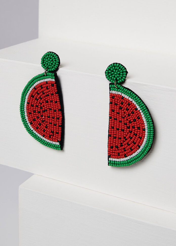 Watermelon Earrings, , hi-res