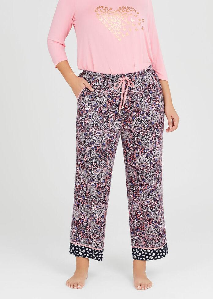 Bamboo Paisley Pyjama Pant, , hi-res