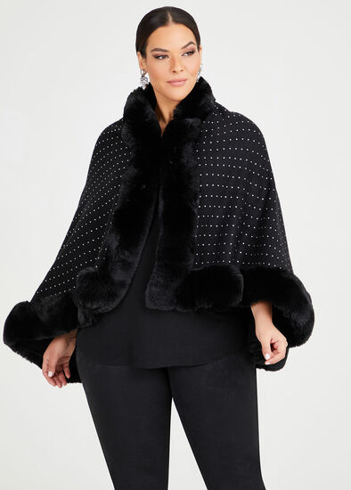 Wham Glam Fur Cape