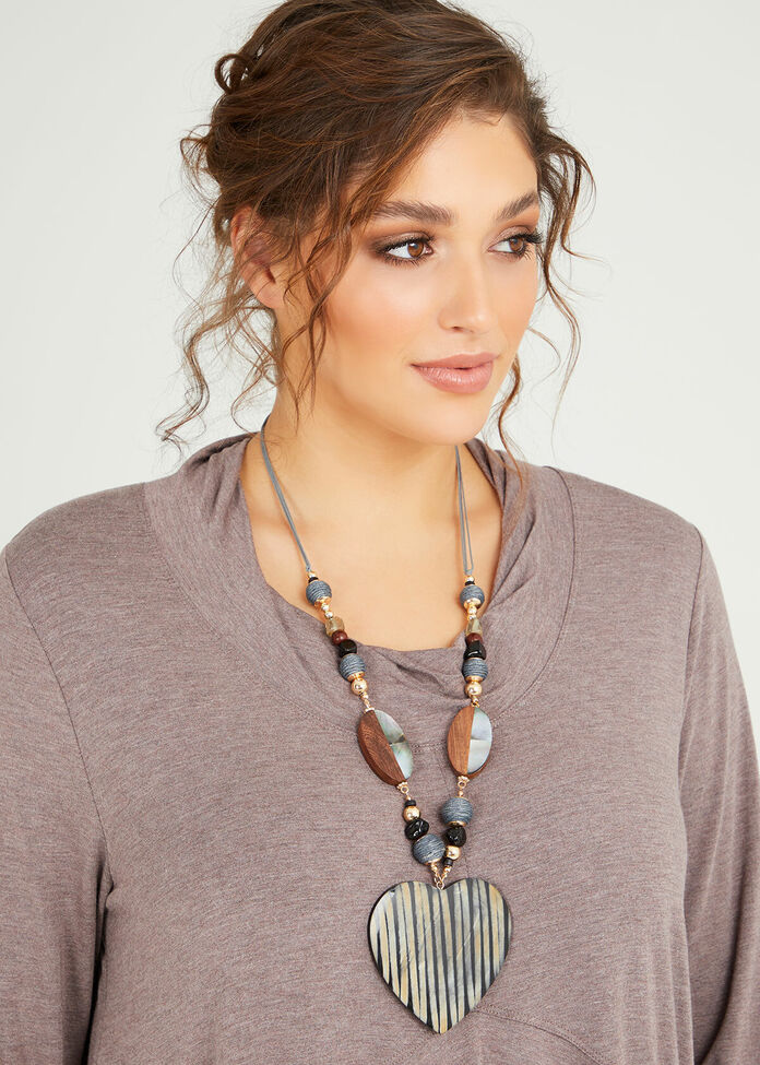 Tribal Heart Necklace, , hi-res