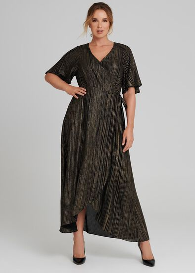Linear Wrap Dress
