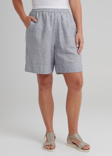 Coastal Stripe Linen Short