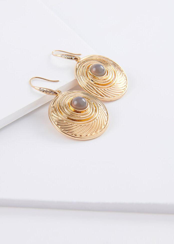 Swirl & Stone Earrings, , hi-res