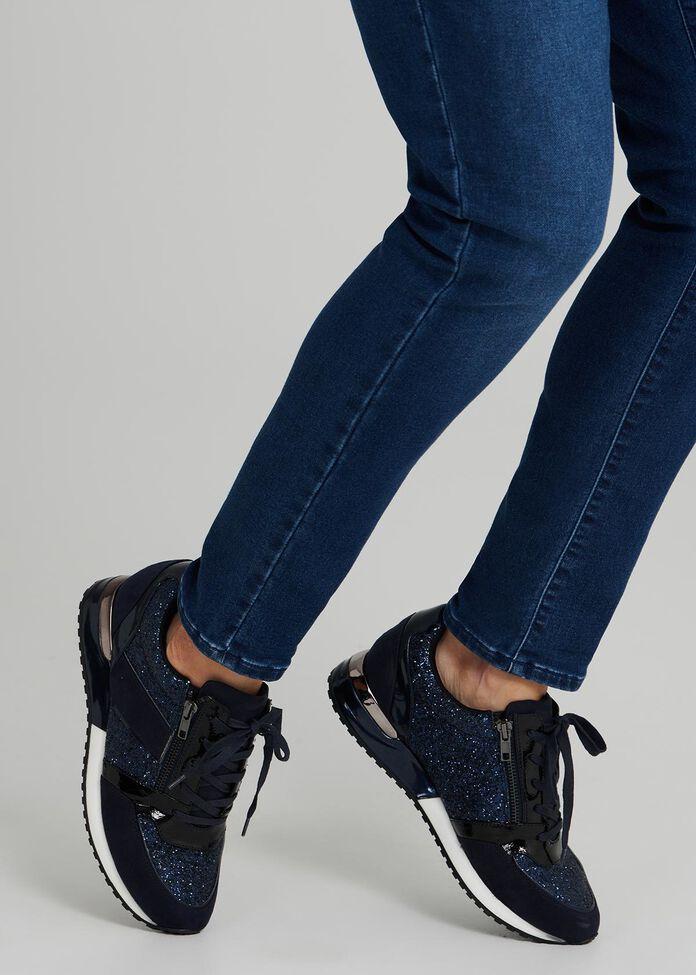 Deni Dual Zip Sneaker, , hi-res