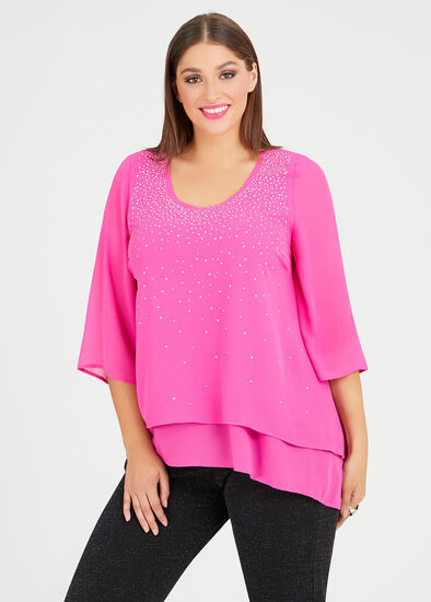 Crystal Layered Evening Top