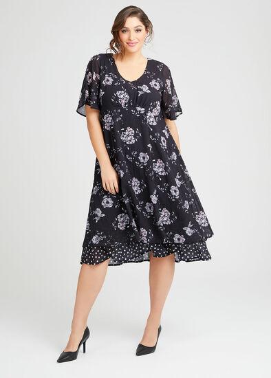 Audrey Floral Midi Dress