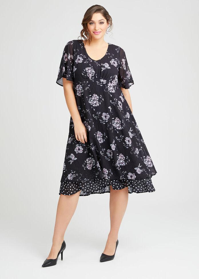 Audrey Floral Midi Dress, , hi-res