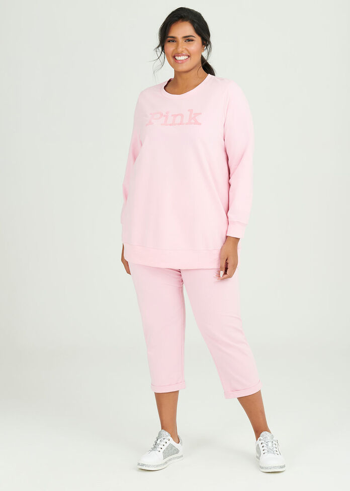 Organic Pink Sweat Top, , hi-res