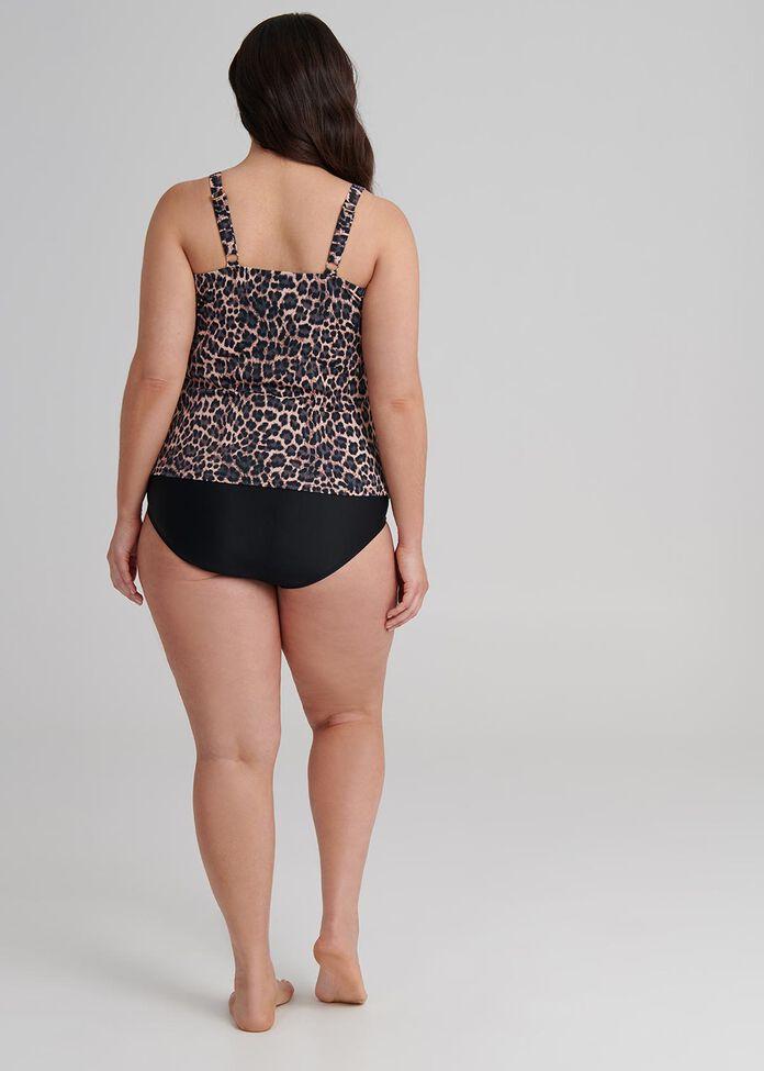 Leopard Ruffle Tankini, , hi-res