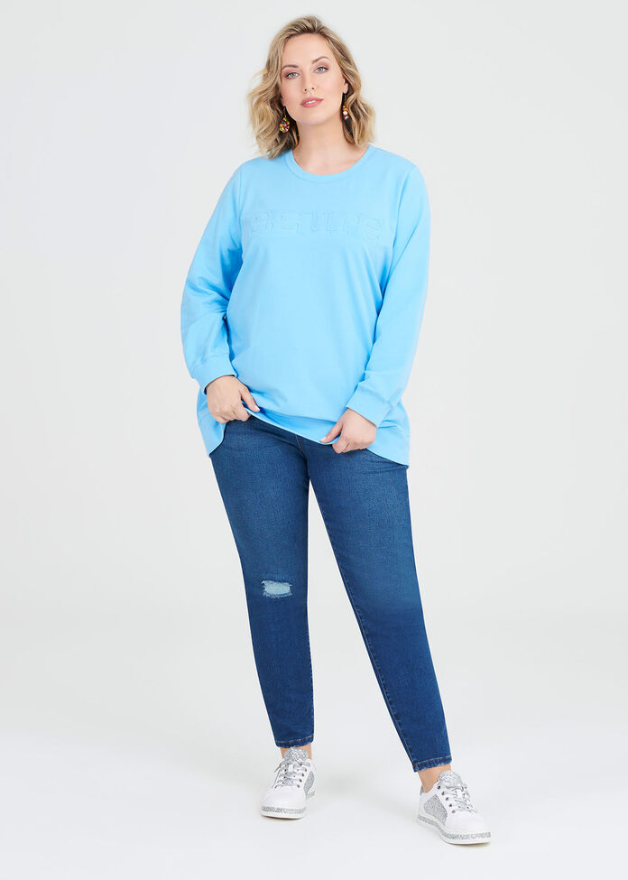 Organic Azure Sweat, , hi-res