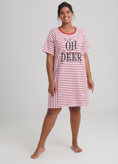 Oh Deer Stripe Nightie