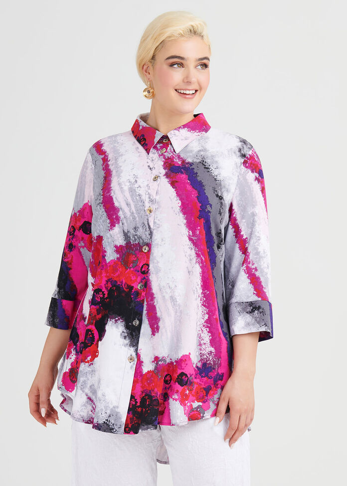 Calypso Viscose Shirt, , hi-res