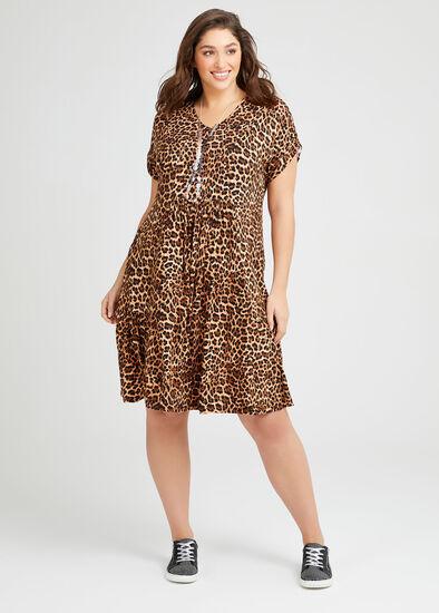 Bamboo Animal Frill Dress