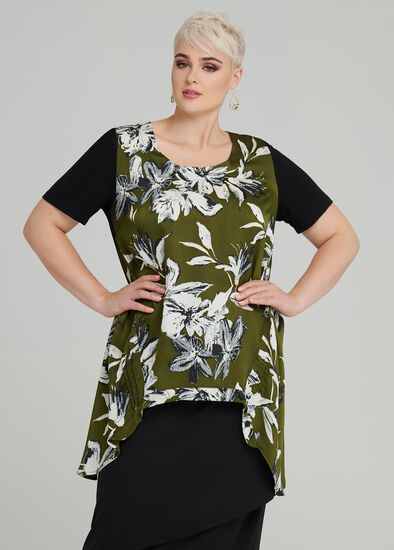 Forrest Flowers Top