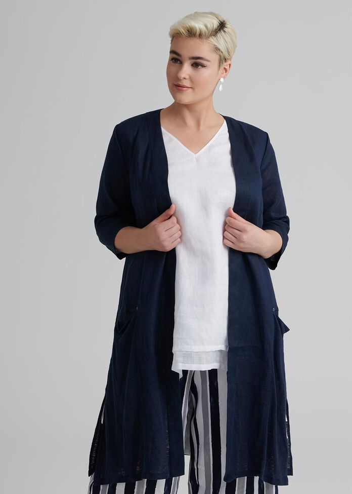 Linen Sebou Jacket, , hi-res